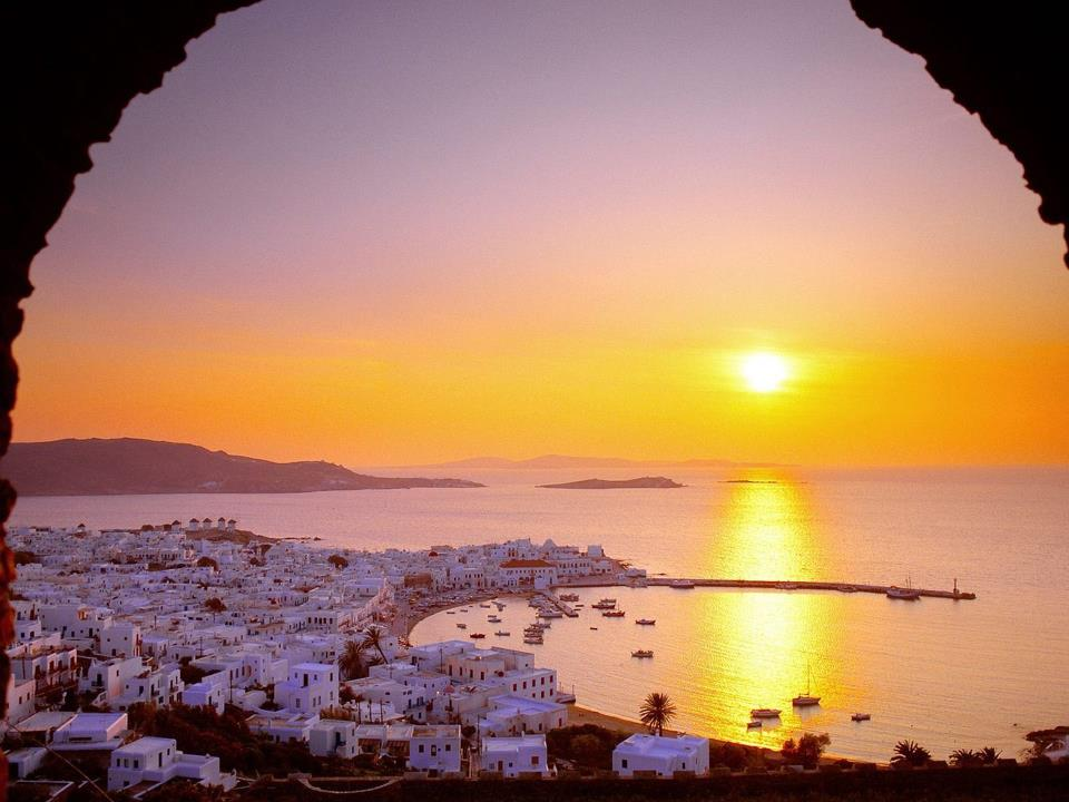 Greece at sunset