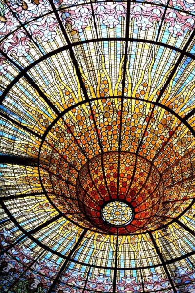Stained Glass Ceiling at Palau de la Música