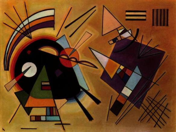 artm - Wassily Kandinsky, Black and Violet (1930)