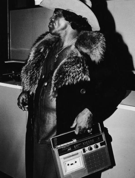 James Brown, and boombox