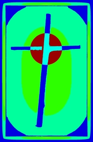 Cardboard Cross bright green