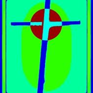 Cardboard Cross bright green