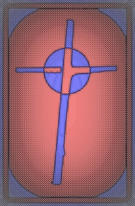 Cardboard Cross pink purple