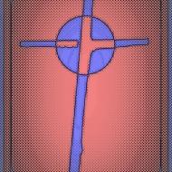 Cardboard Cross pink purple