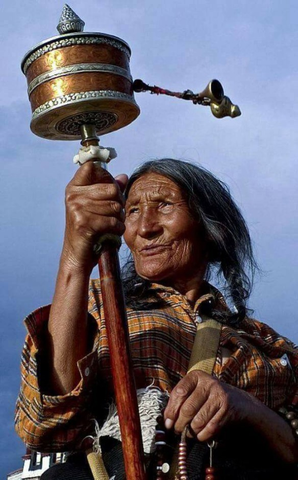 bu - Tibet prayer wheel