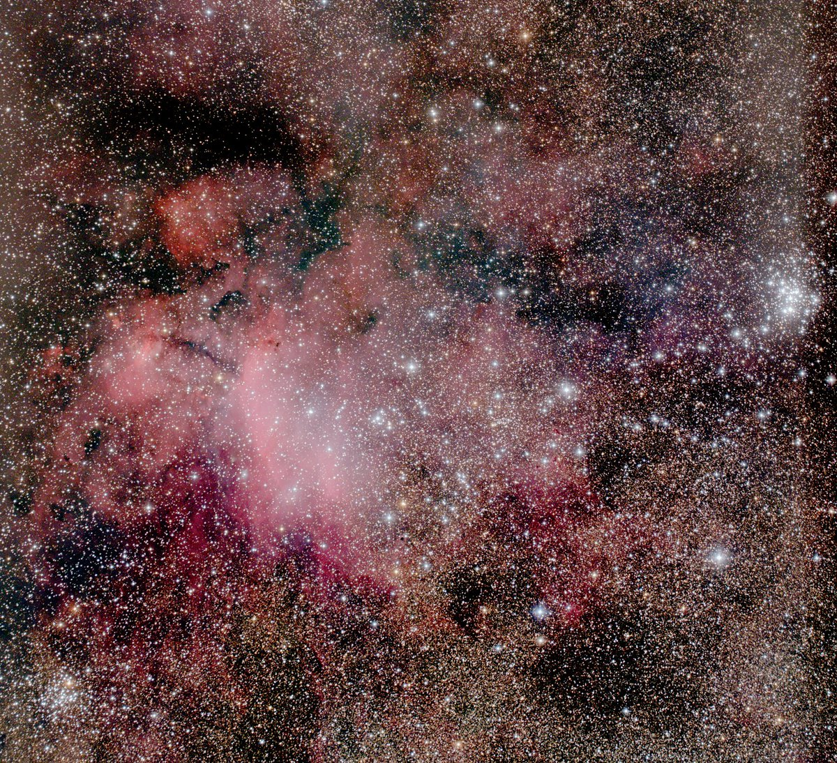 sp - Prawn Nebula, Ic4628 in Scorpius, as seen from @UCNZ Mount John Observatory #astronomy #NewZealand